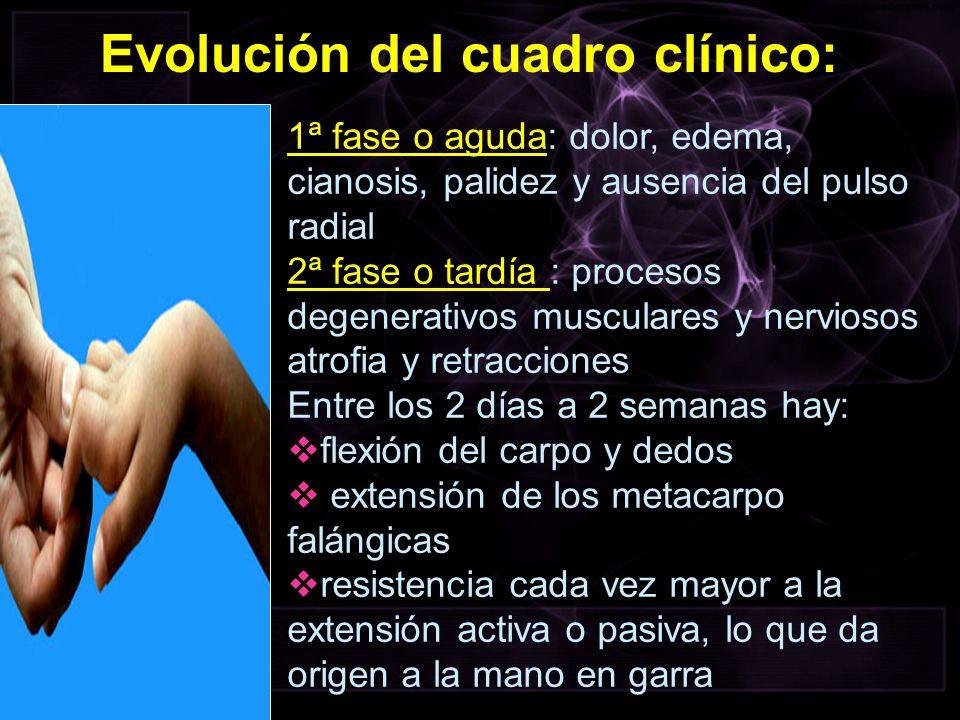 Evolución del cuadro clínico: