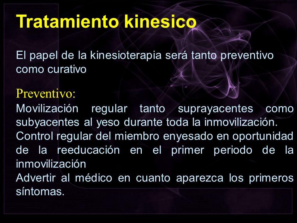 Tratamiento kinesico Preventivo:
