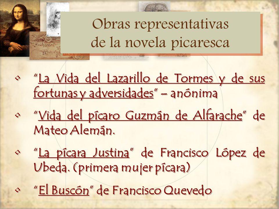 Obras representativas de la novela picaresca