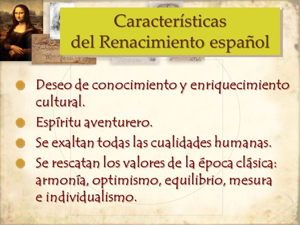 Características del Renacimiento español