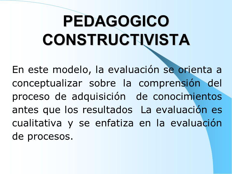 PEDAGOGICO CONSTRUCTIVISTA