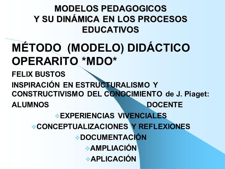 MODELOS PEDAGOGICOS Y SU DINÁMICA EN LOS PROCESOS EDUCATIVOS