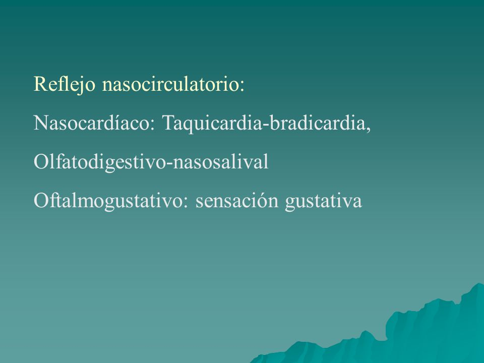 Reflejo nasocirculatorio: