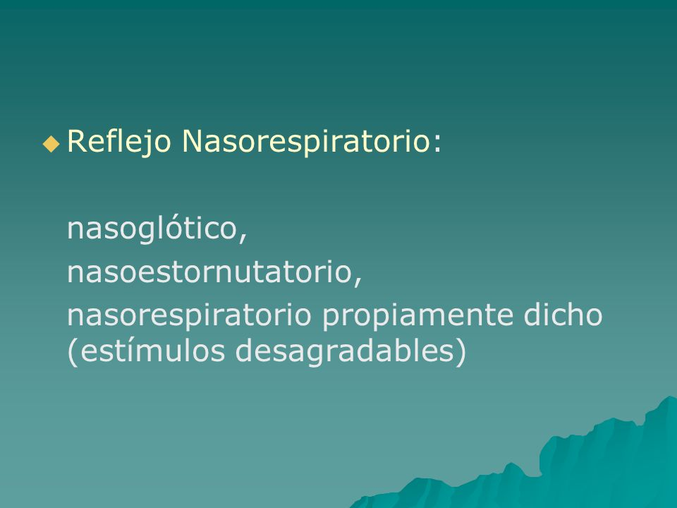 Reflejo Nasorespiratorio: