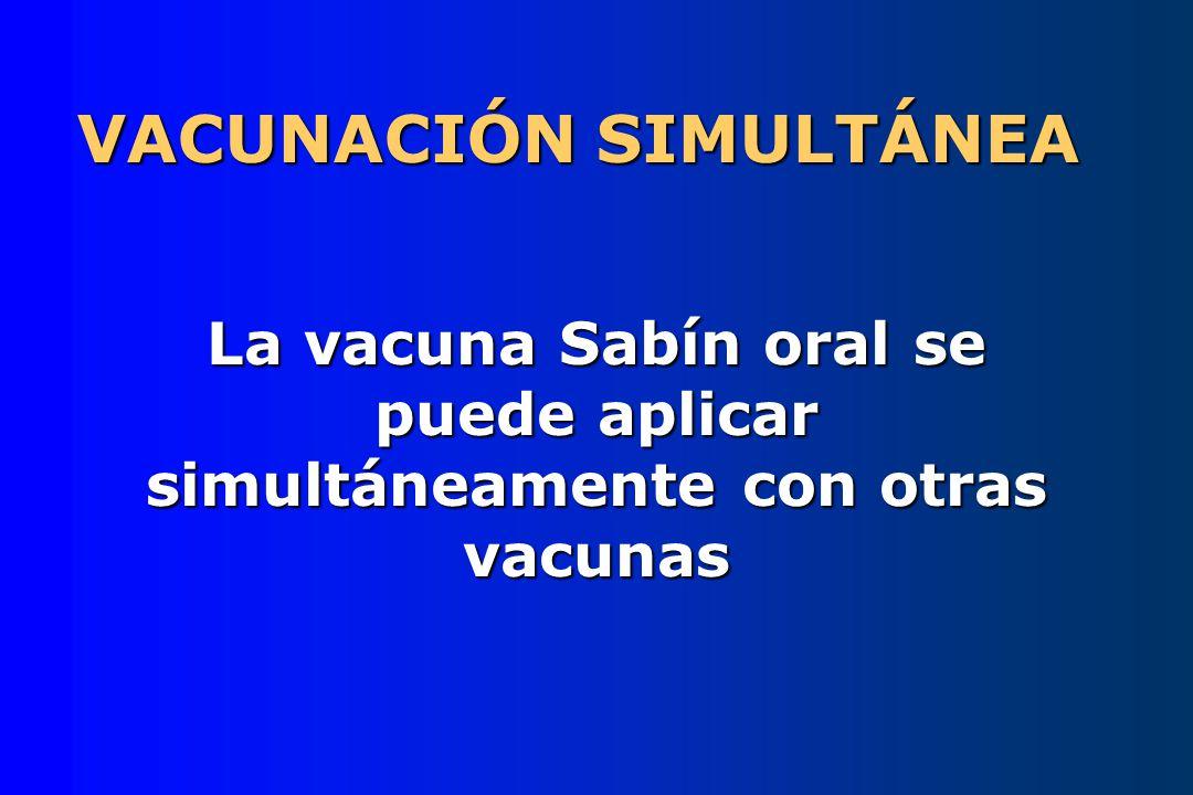 VACUNACIÓN SIMULTÁNEA
