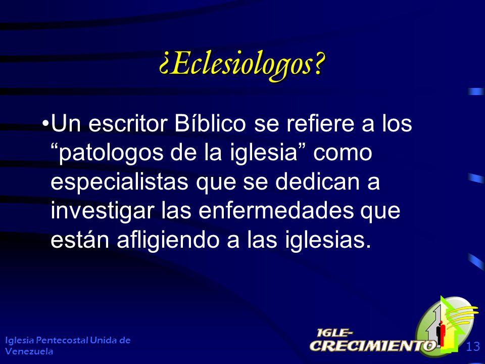 ¿Eclesiologos