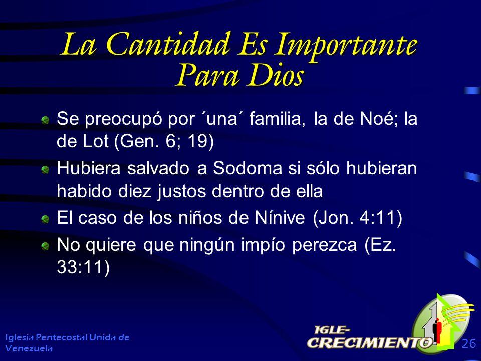 La Cantidad Es Importante Para Dios