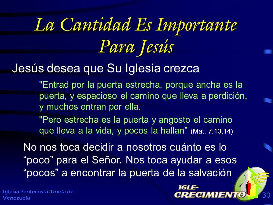 La Cantidad Es Importante Para Jesús