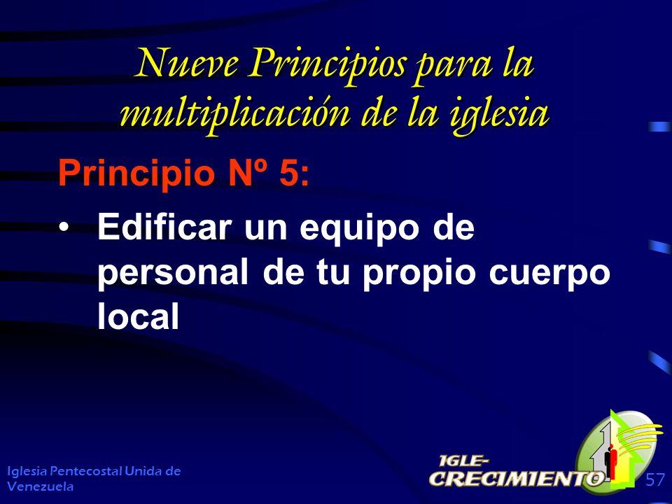 Nueve Principios para la multiplicación de la iglesia