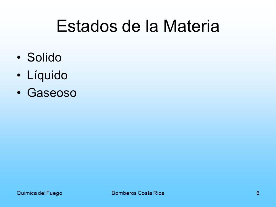 Estados de la Materia Solido Líquido Gaseoso Quimica del Fuego