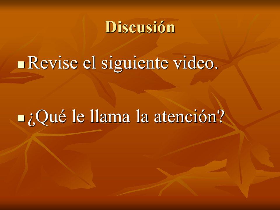 Revise el siguiente video. ¿Qué le llama la atención