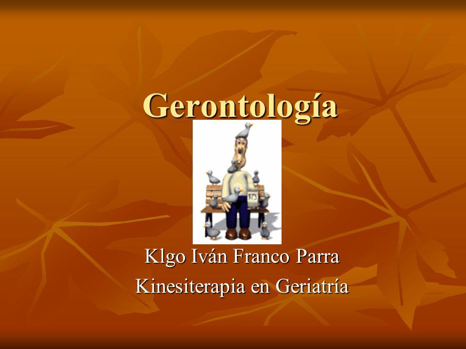 Klgo Iván Franco Parra Kinesiterapia en Geriatría