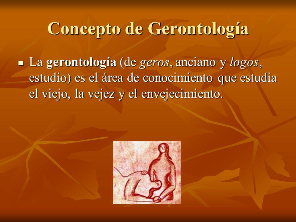 Concepto de Gerontología