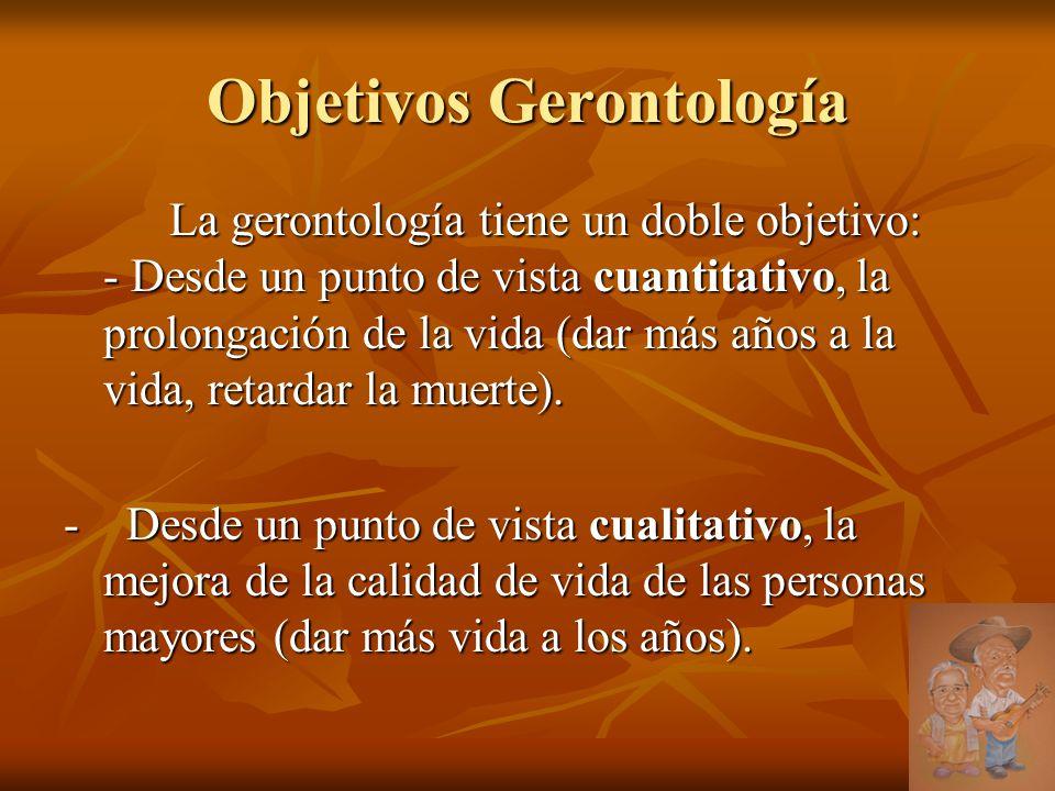 Objetivos Gerontología