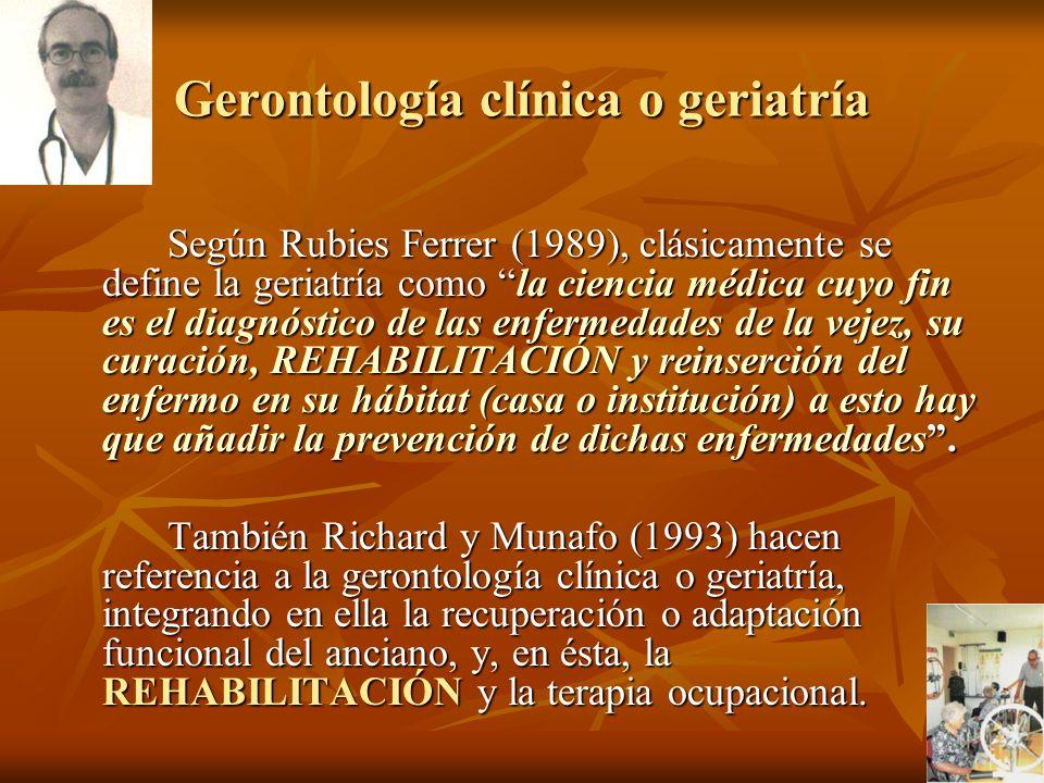 Gerontología clínica o geriatría