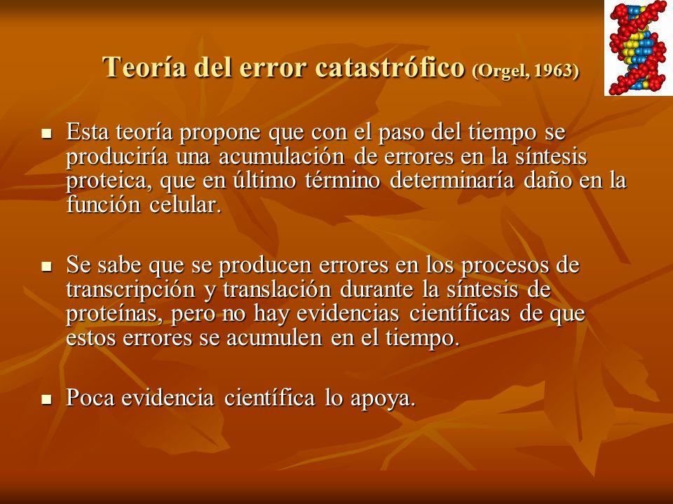 Teoría del error catastrófico (Orgel, 1963)