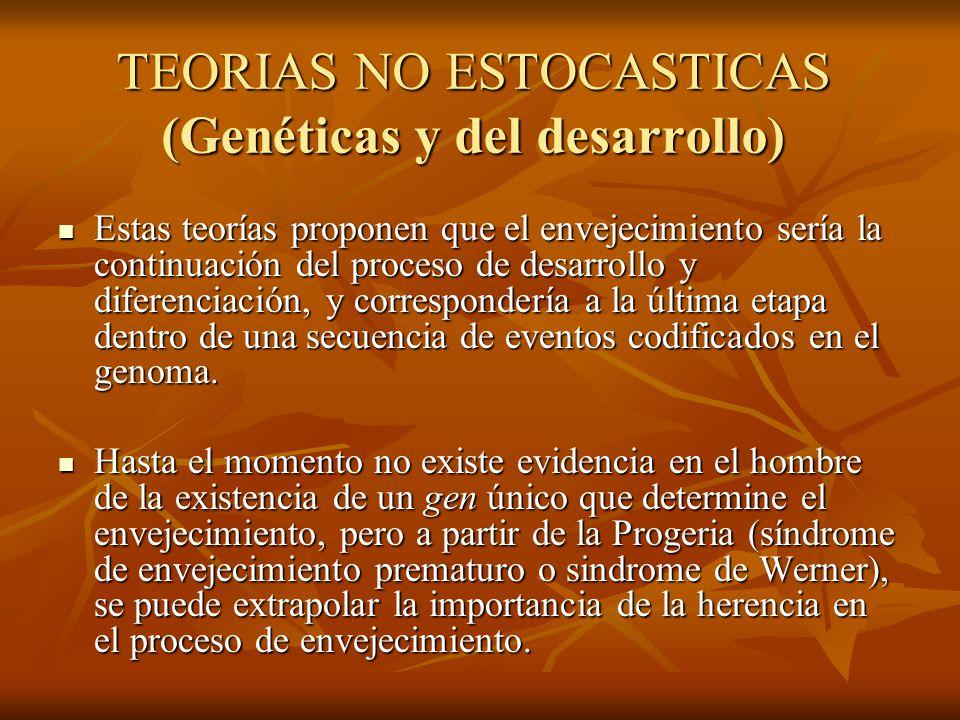 TEORIAS NO ESTOCASTICAS (Genéticas y del desarrollo)