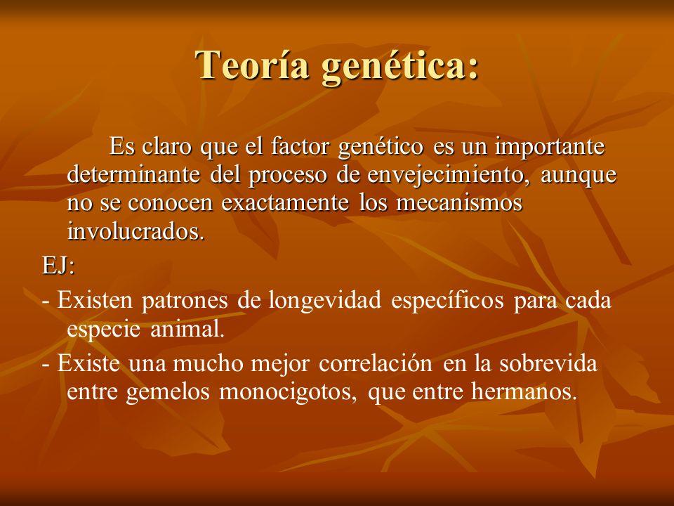 Teoría genética: