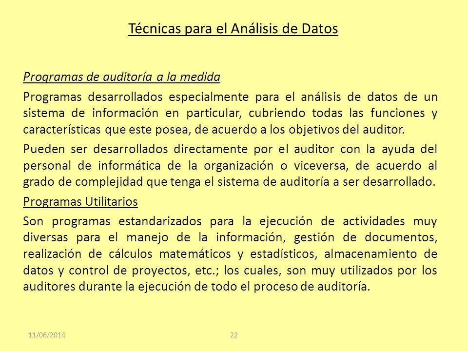 Técnicas para el Análisis de Datos