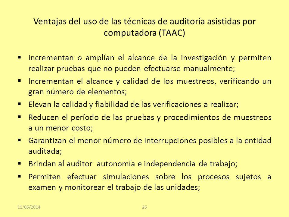 Ventajas del uso de las técnicas de auditoría asistidas por computadora (TAAC)