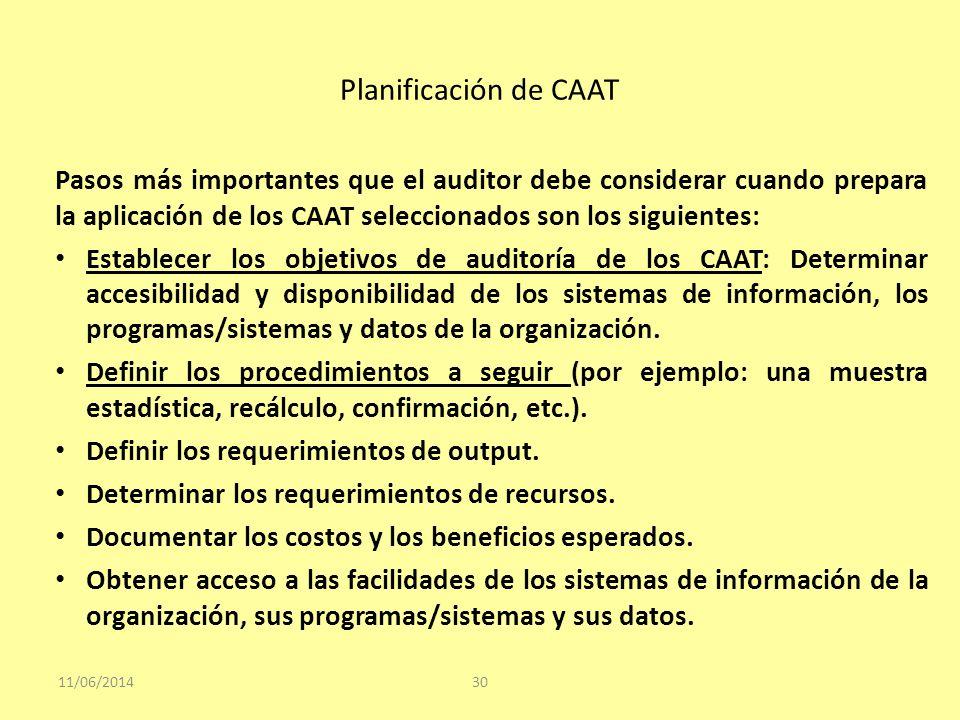 Planificación de CAAT