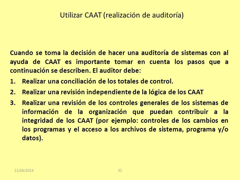 Utilizar CAAT (realización de auditoría)