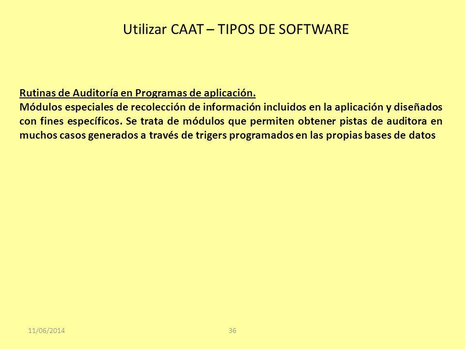 Utilizar CAAT – TIPOS DE SOFTWARE