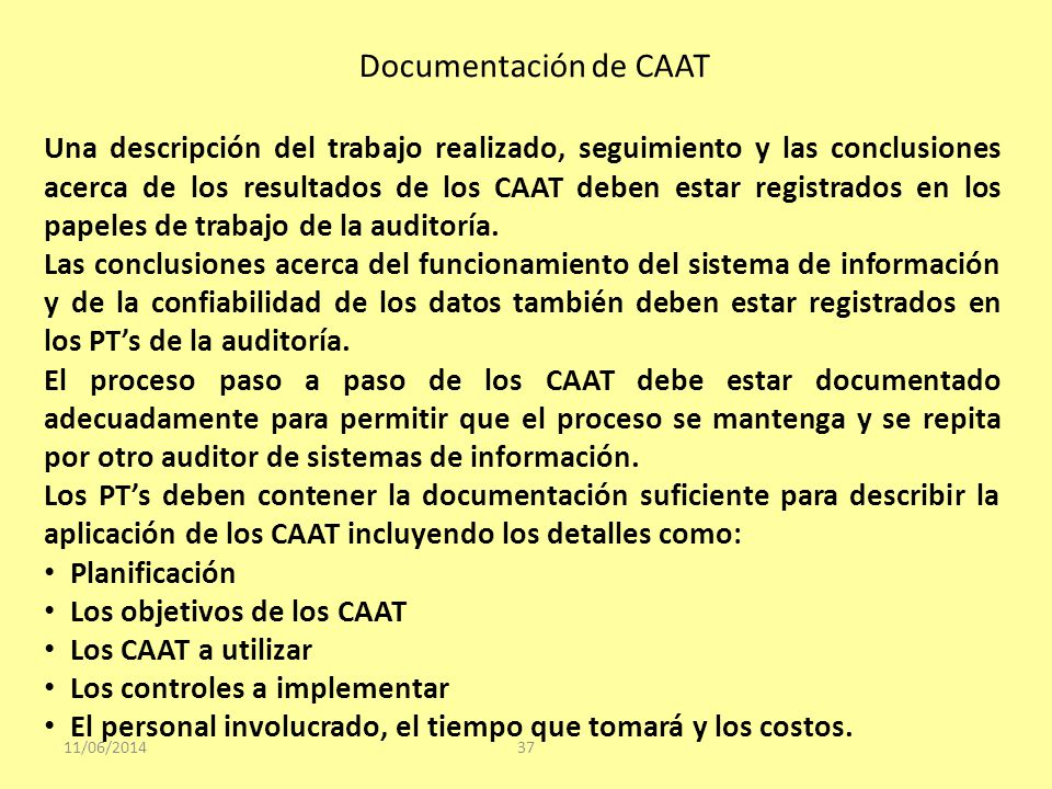 Documentación de CAAT