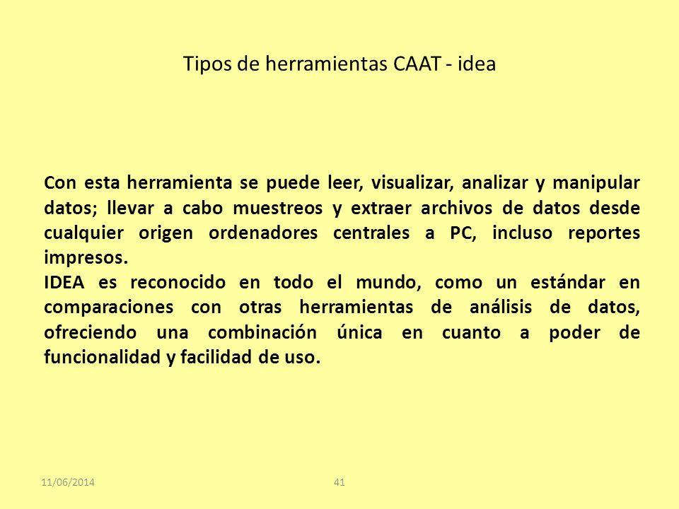 Tipos de herramientas CAAT - idea
