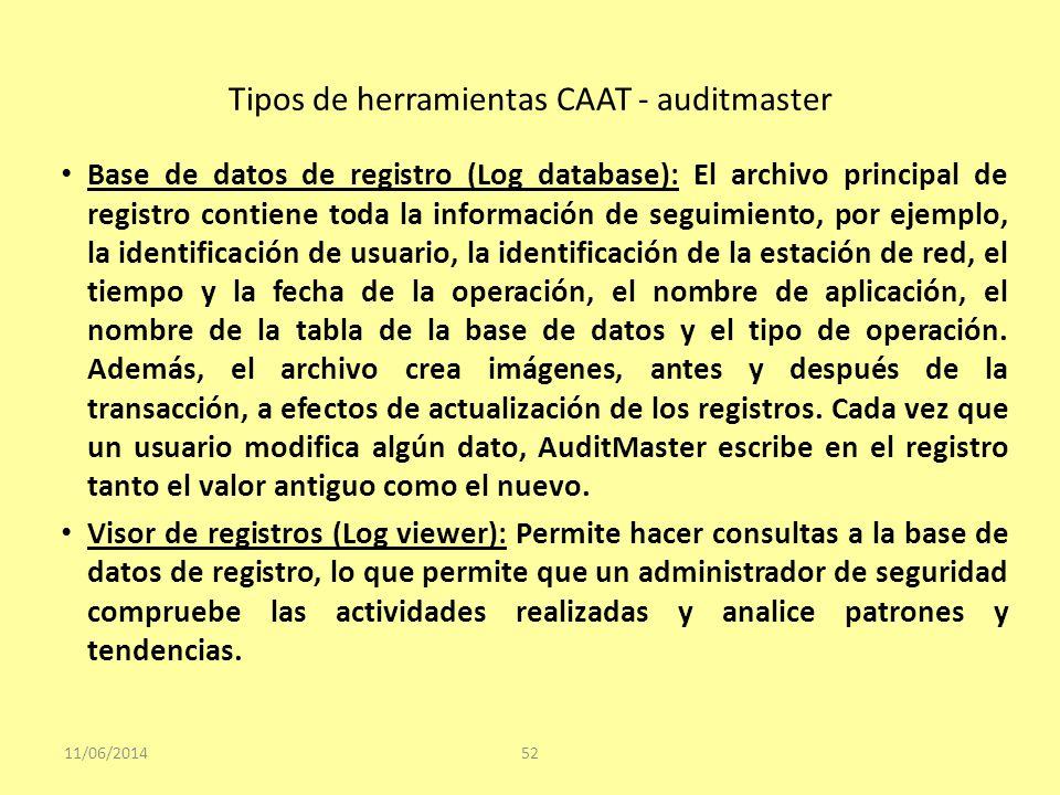Tipos de herramientas CAAT - auditmaster
