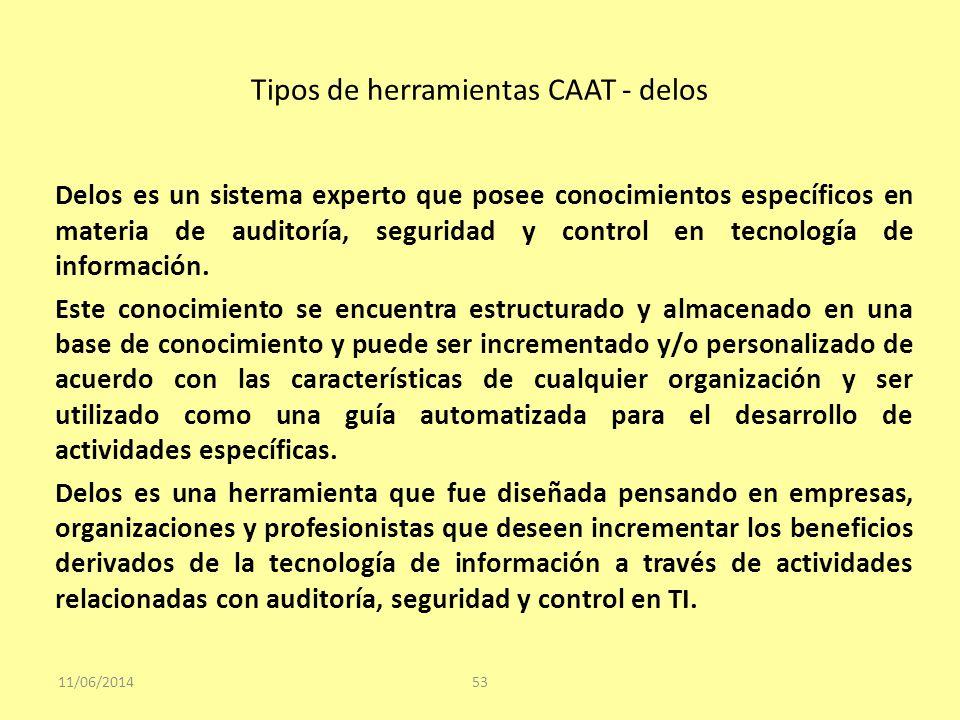 Tipos de herramientas CAAT - delos