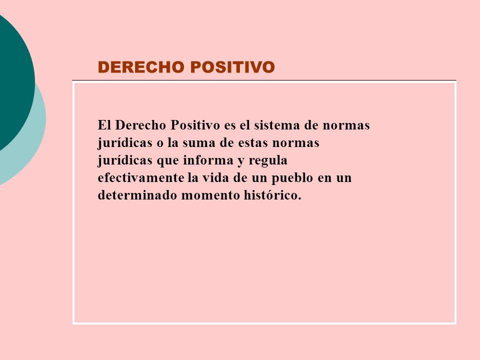 DERECHO POSITIVO