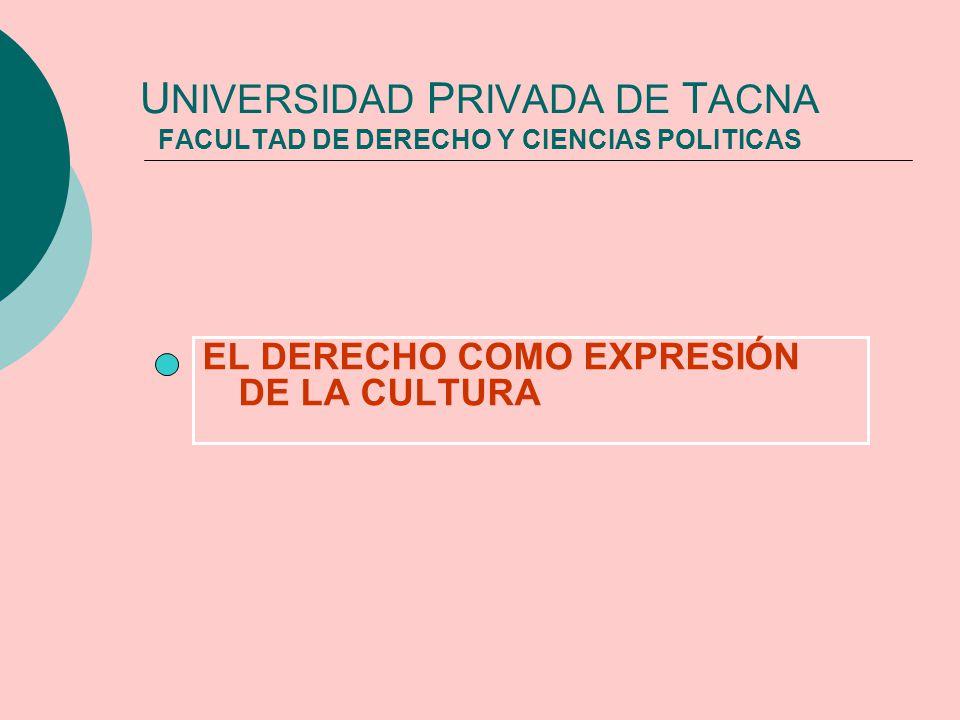UNIVERSIDAD PRIVADA DE TACNA FACULTAD DE DERECHO Y CIENCIAS POLITICAS