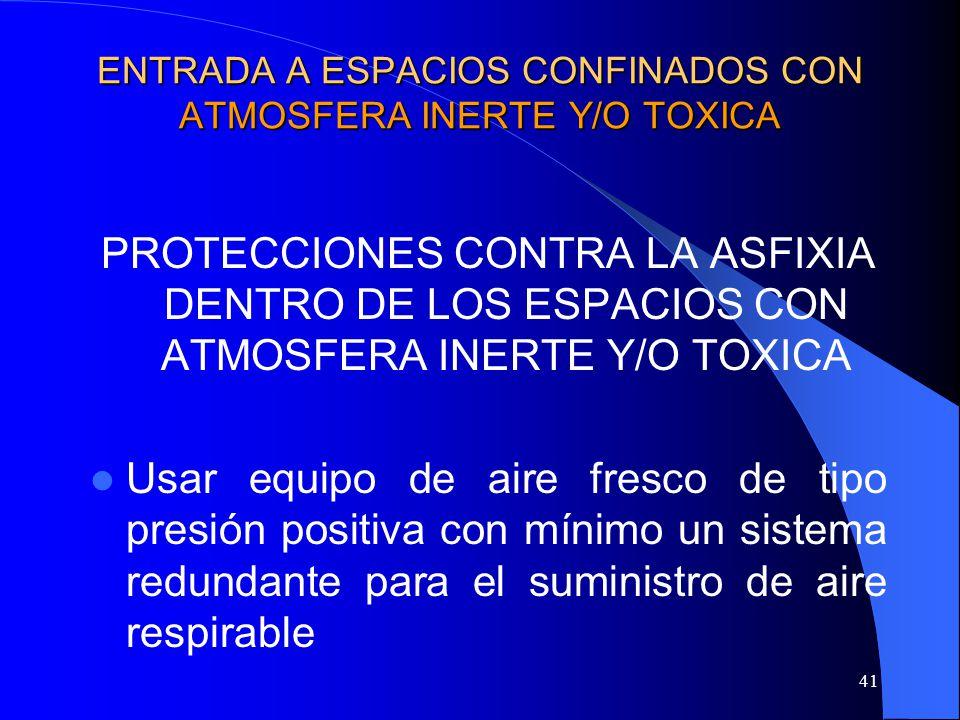 ENTRADA A ESPACIOS CONFINADOS CON ATMOSFERA INERTE Y/O TOXICA