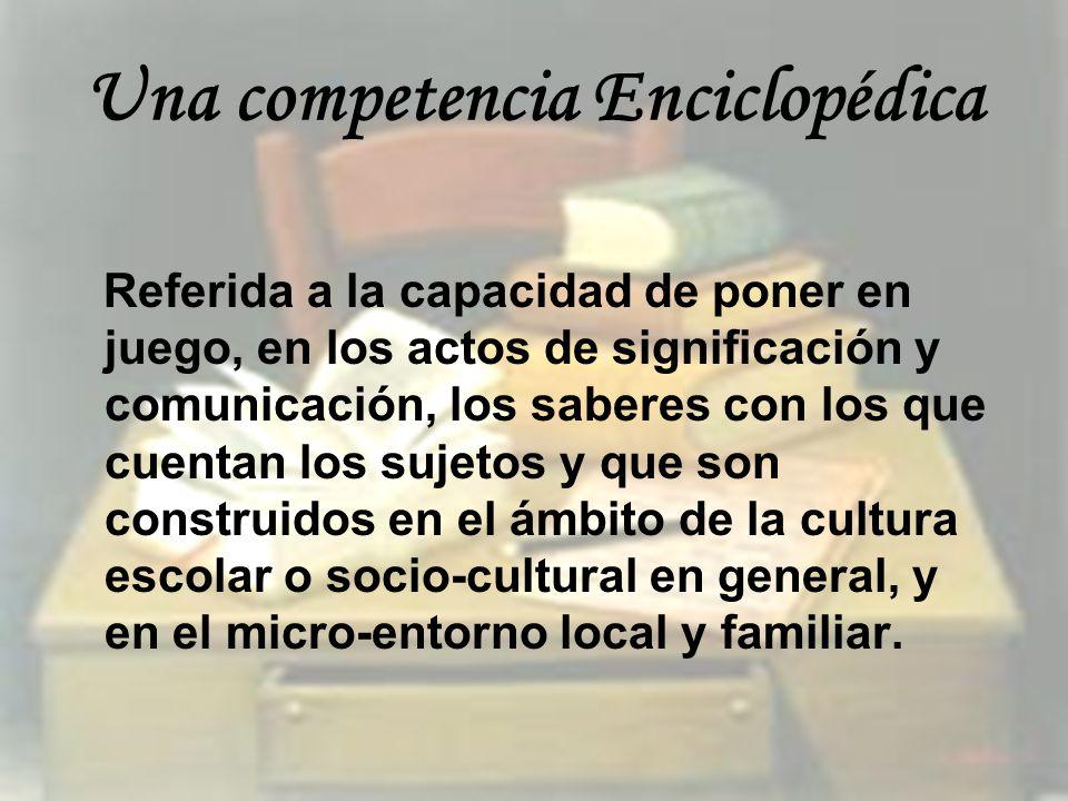 Una competencia Enciclopédica