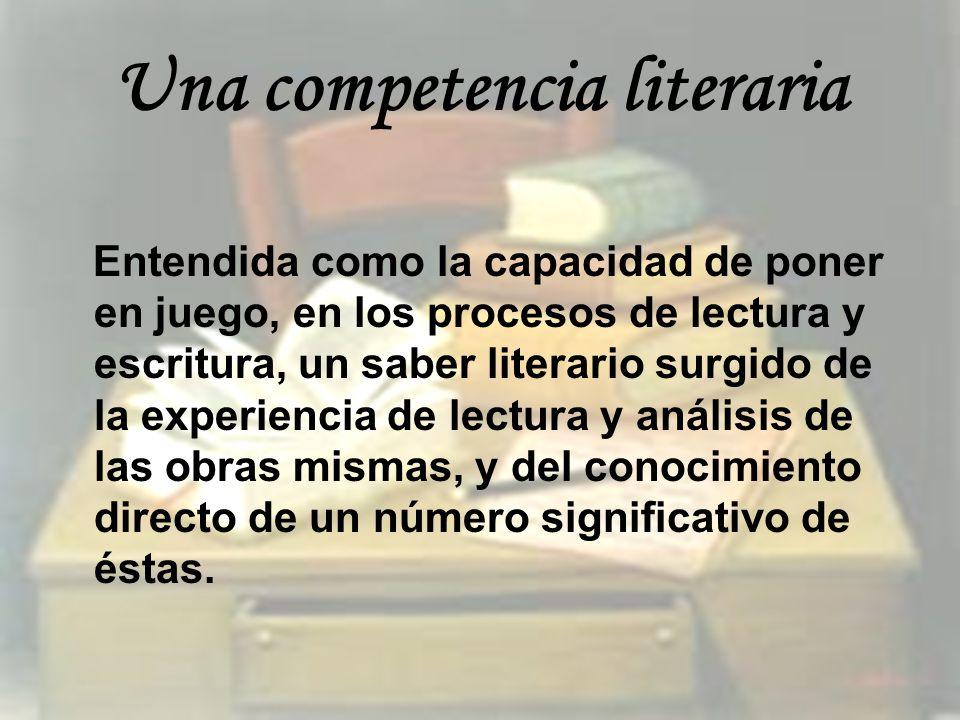 Una competencia literaria