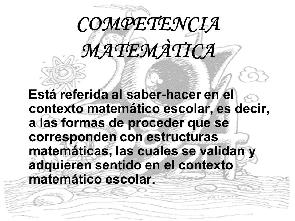 COMPETENCIA MATEMÀTICA