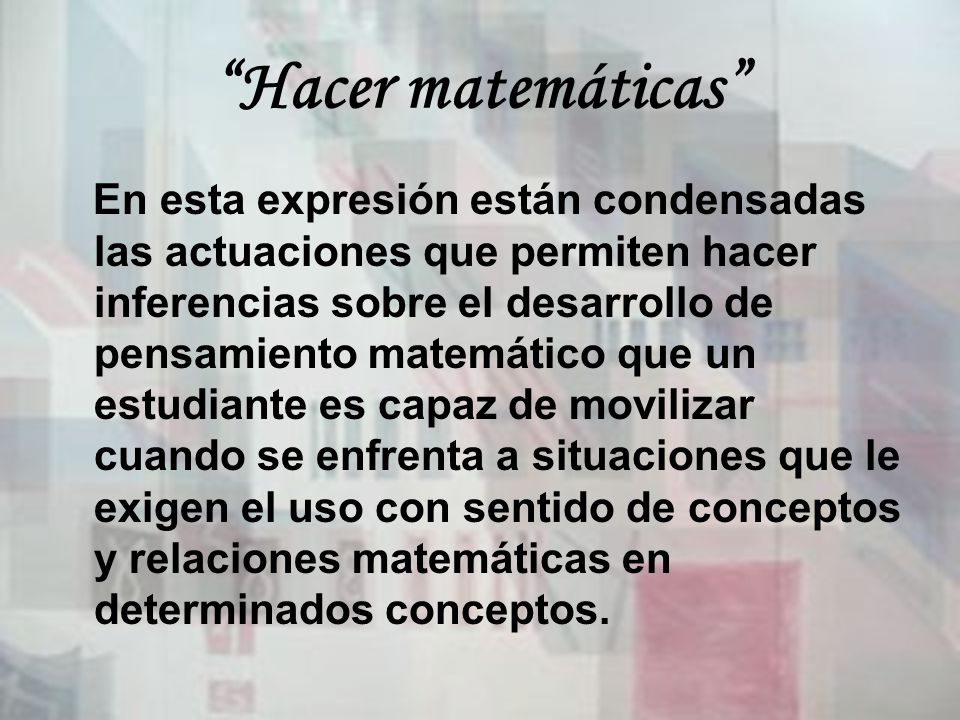 Hacer matemáticas