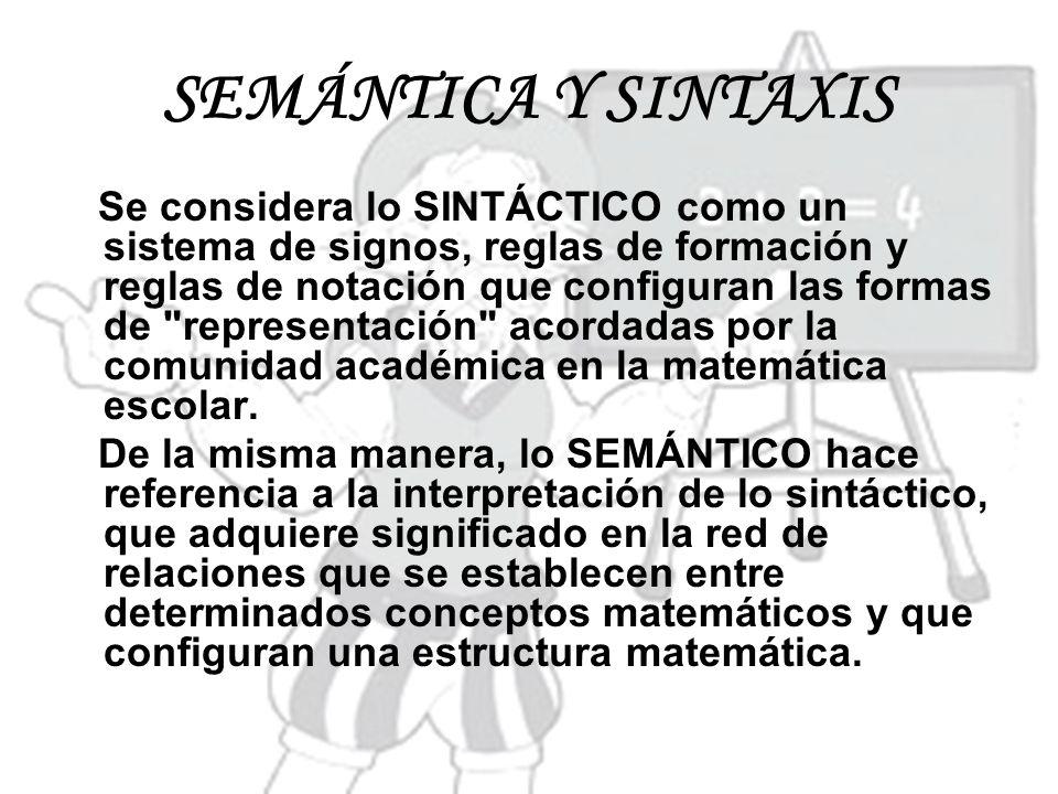 SEMÁNTICA Y SINTAXIS