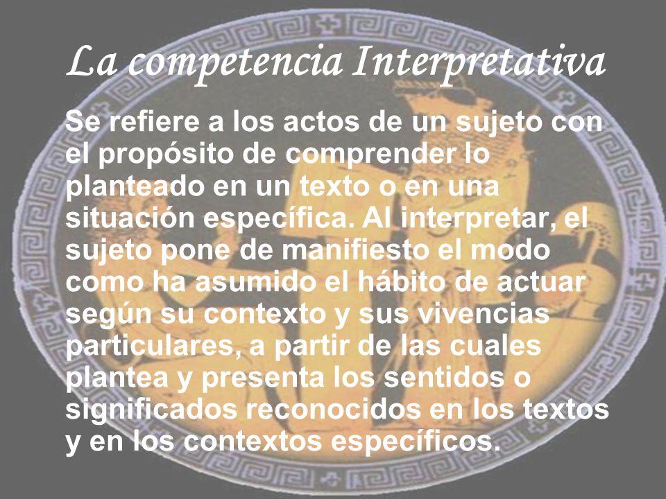 La competencia Interpretativa