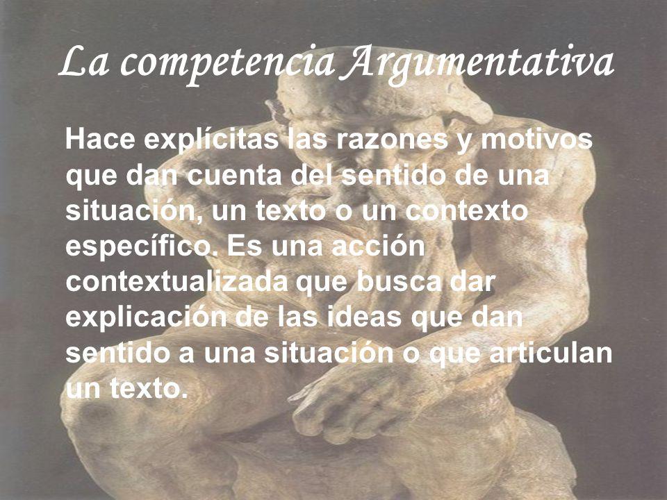 La competencia Argumentativa