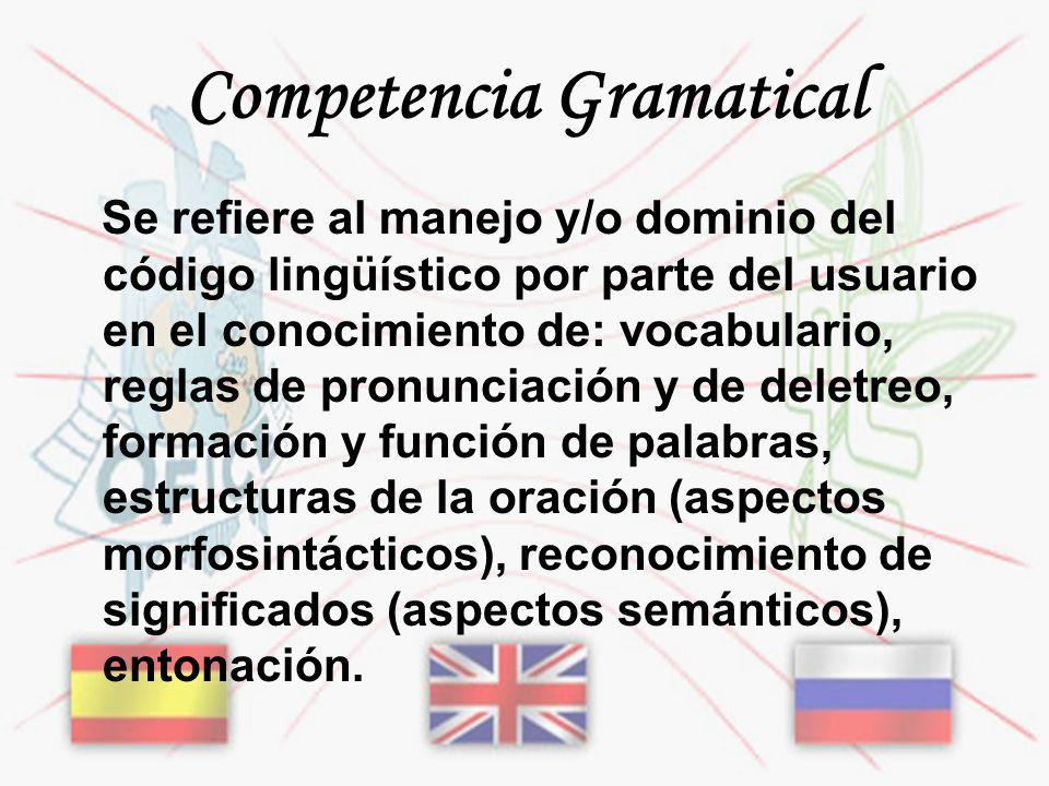 Competencia Gramatical