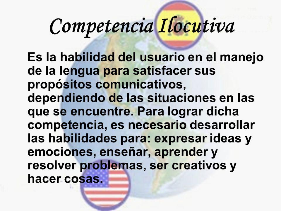 Competencia Ilocutiva