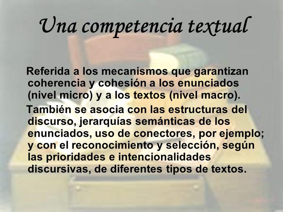 Una competencia textual