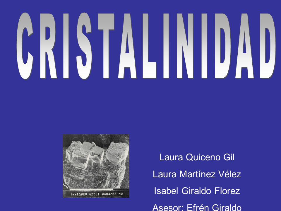 CRISTALINIDAD Laura Quiceno Gil Laura Martínez Vélez