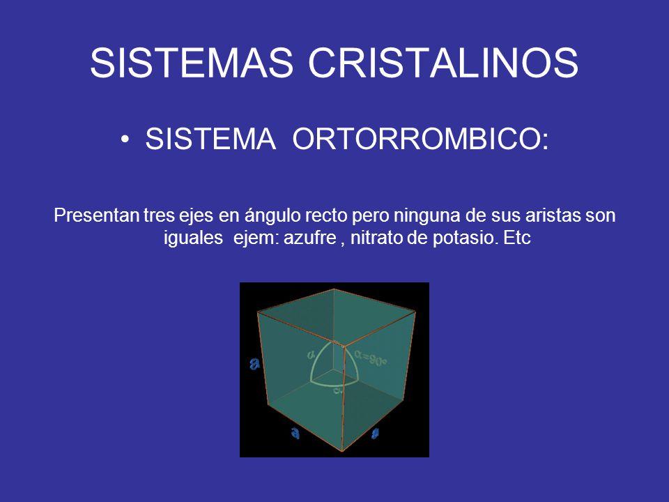 SISTEMA ORTORROMBICO: