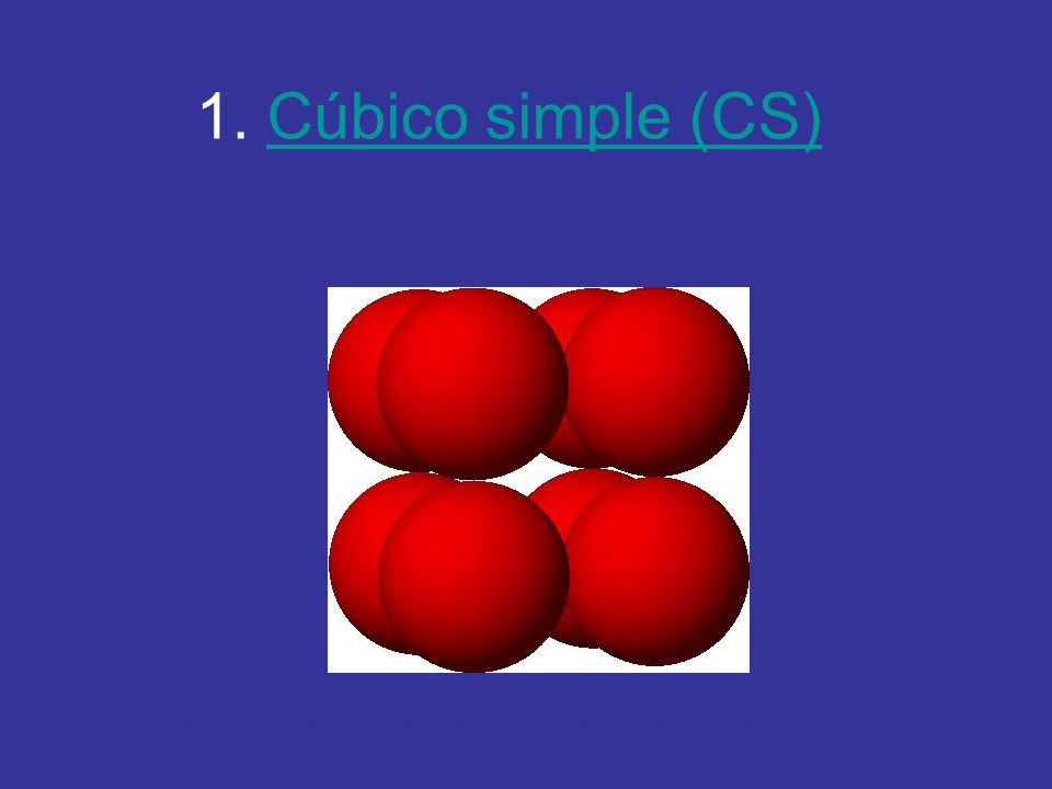 1. Cúbico simple (CS) http://es.youtube.com/watch v=Yy2NianhnBs&feature=related