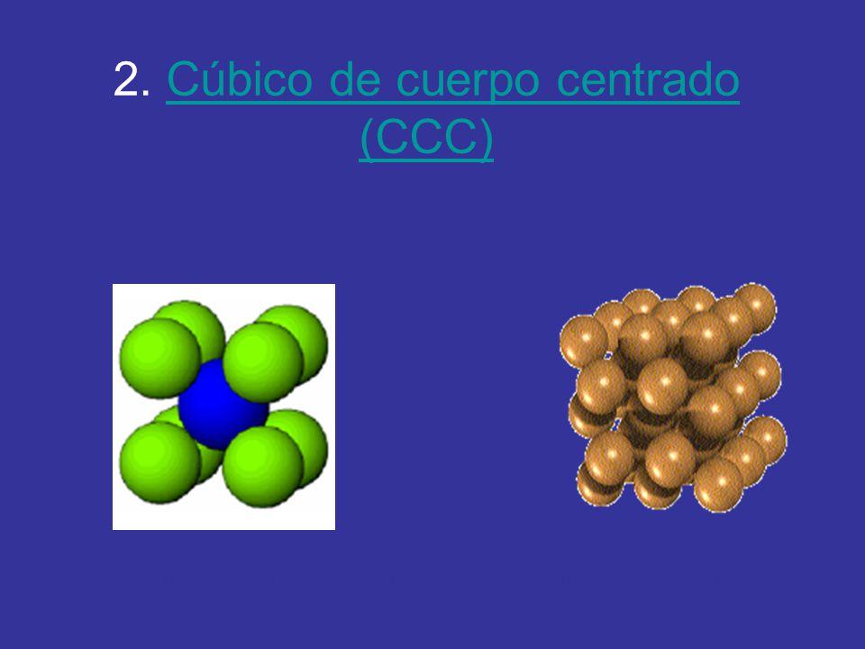 2. Cúbico de cuerpo centrado (CCC)
