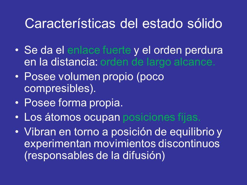 Características del estado sólido