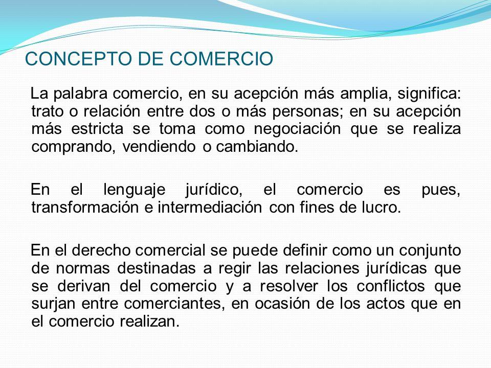 CONCEPTO DE COMERCIO